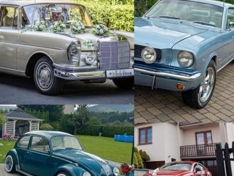 Car Of Love - Mustang Mercedes Garbus boho klasyk zabytek do ślubu,  Bielsko-Biała