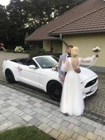 Mustang Cabrio na ślub ,sam prowadzisz, Samochód, auto do ślubu, limuzyna Dobrodzień