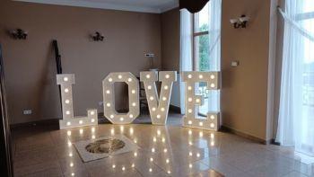 Napis LOVE na wesele, litery love dekoracja sali -, Dekoracje ślubne Stalowa Wola