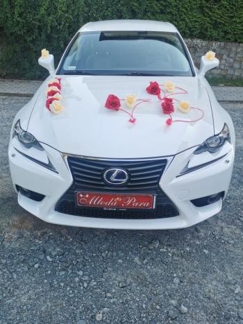 Biały Lexus do ślubu, Samochód, auto do ślubu, limuzyna Oleśnica