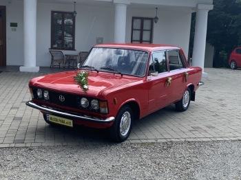 Auto do ślubu samochód na wesele wynajem Fiat 125p zabytkowy, Samochód, auto do ślubu, limuzyna Nowy Sącz