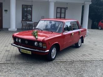 Auto do ślubu samochód na wesele wynajem Fiat 125p zabytkowy,  Nowy Sącz