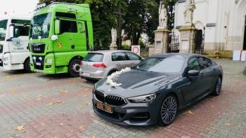 NOWOCZESNA sportowa limuzyna BMW 850i Gran Coupe 530Koni!, Samochód, auto do ślubu, limuzyna Czchów