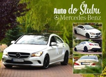 Samochód do ślubu, auto na wesele Mercedes CLA 250, Samochód, auto do ślubu, limuzyna Chojnice