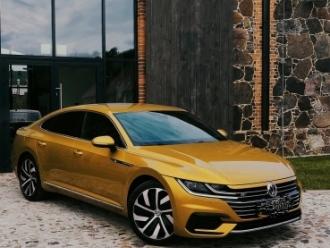 Złoty VW Arteon R-line,  Głogów