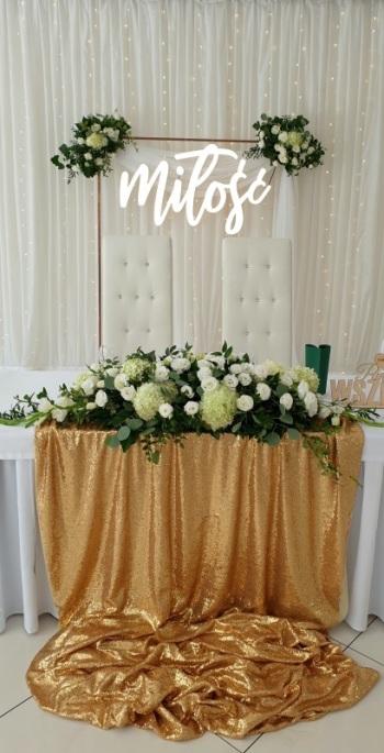 IMPRESJA Dekoracje Ślubne Dekoracja sali kościoła ślub plenerowy kwiat