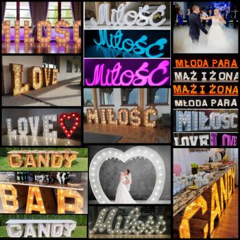 Napis love, serce , Miłość, ciężki dym, wytwornica banie, candy bar, Napis Love Konin