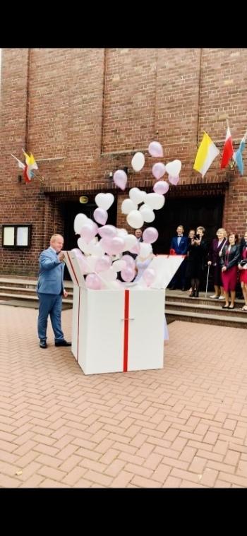 Pudło z balonami, balony z helem, balony led, Balony, bańki mydlane Bielsko-Biała