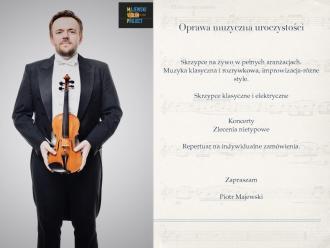 Piotr Majewski-Skrzypce na ślub/wesele/event/występ solowy/Show/,  Łódź