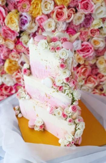 W świecie kruszonki - torty, słodkie stoły, desery, ciasta, Tort weselny Jaworzno