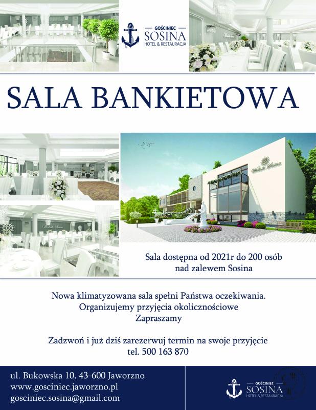 Zapraszamy do rezerwacji nowej Sali Bankietowej, Jaworzno - zdjęcie 1