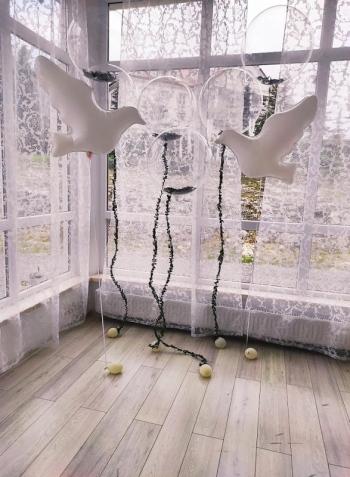 Balonowe dekoracje, Balony z helem, Dekoracje ślubne Bobowa