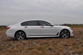 Białe BMW 7 w wersji LONG M PAKIET do ŚLUBU, Samochód, auto do ślubu, limuzyna Karczew