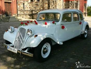 Biały Citroen Traction Avant - idealne auto do ślubu, Samochód, auto do ślubu, limuzyna Tarnowskie Góry