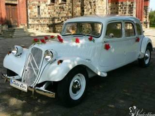 Biały Citroen Traction Avant - idealne auto do ślubu,  Gliwice