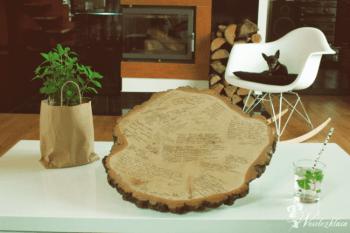 Rustykalne dekoracje weselne z drewna - Plas-drew, Dekoracje ślubne Ciężkowice