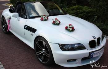 Białe BMW Z3 do ślubu, wesela kabriolet cabrio, Samochód, auto do ślubu, limuzyna Rawicz