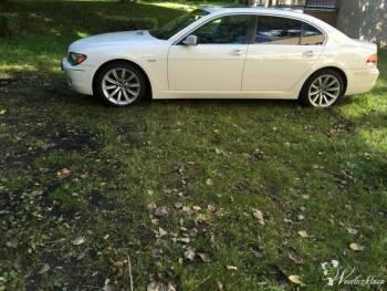 BMW 7 Long piękna *biała*, Samochód, auto do ślubu, limuzyna Wolin