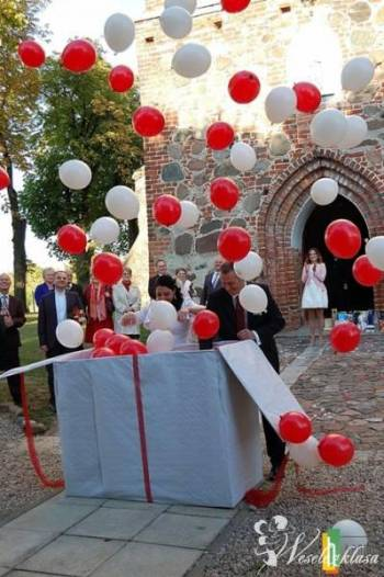 Balony z helem/ Dekoracje balonowe GRUPA HAPPY, Balony, bańki mydlane Sępopol