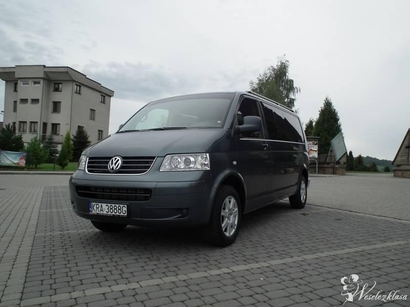 Transport Gości-samochód 9-osobowy Vw T5 Caravelle, Myślenice - zdjęcie 1
