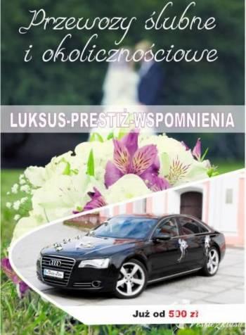 Przewóz pary młodej oraz gości weselnych Audi A8 , Samochód, auto do ślubu, limuzyna Legnica