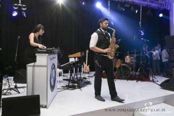 Sax-Machine music show(Dj-ka+Saxofonista/Konferansjer+oświetlenie+dym), DJ na wesele Tychy