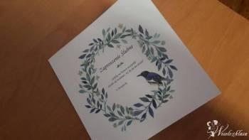 Drukarnia- zaproszenia,etykiety ,winietki inne, Zaproszenia ślubne Brok