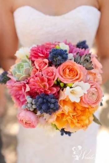 Kwiaciarnia z fantazją oferuję florystykę ślubną, Dekoracje ślubne Tłuszcz