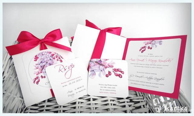 zaproszenia ślubne z karykaturą, malowanymi kwiatami, Jasło - zdjęcie 1