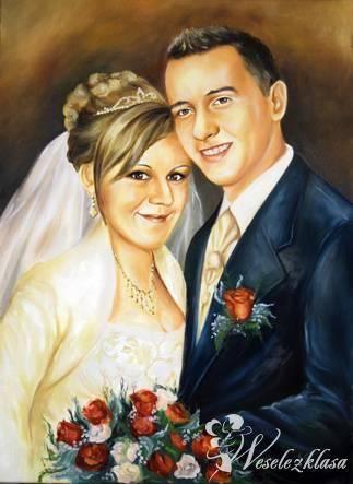 PORTRET ŚLUBNY OBRAZY NA ZAMÓWIENIE SUPER PREZENT, Prezenty ślubne Brusy