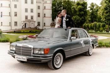 Klasyczna limuzyna mercedes S-samochód prezydencki, Samochód, auto do ślubu, limuzyna Dobra Wielkopolskie