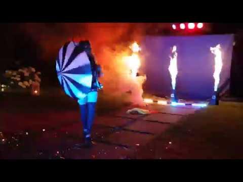Pokaz OGNIA FIRESHOW! Pokaz ŚWIATŁA LEDSHOW Lasery PIROTECHNIKA Bańki - film 1