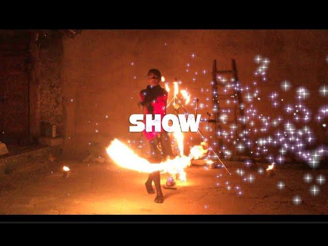 Niesamowite OGNIOWE  FIRESHOW ! - led show - POKAZY ŚWIATŁA - Ani Pelu - film 1