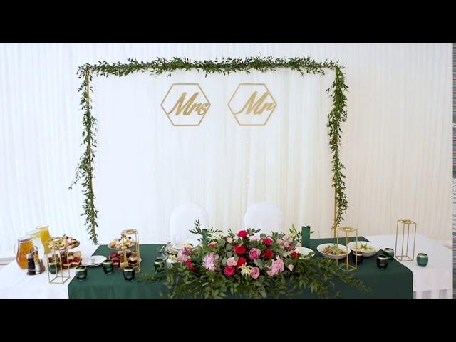 BRILLIANT WEDDING - wypożyczalnia dekoracji • dekoracje • florystyka - film 1