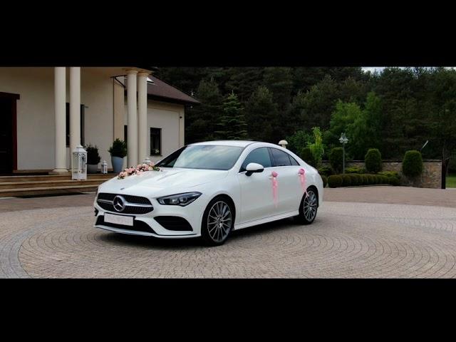 Samochód do ślubu-biały Mercedes CLA- najnowszy model,pakiet AMG. FILM - film 1