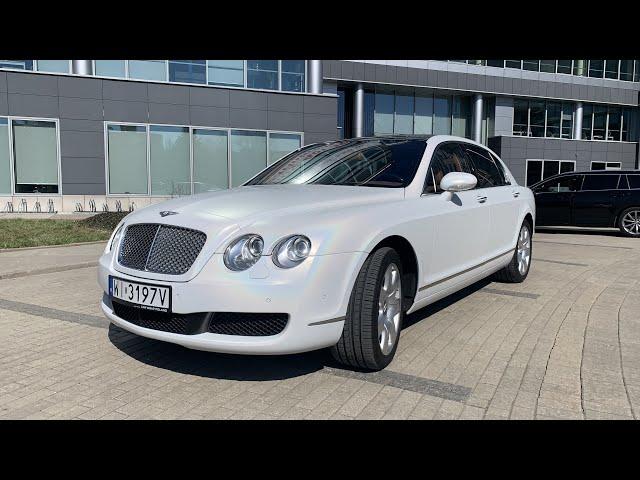 Auto do ślubu - Biały Bentley Continental Flying Spur Perła - film 1