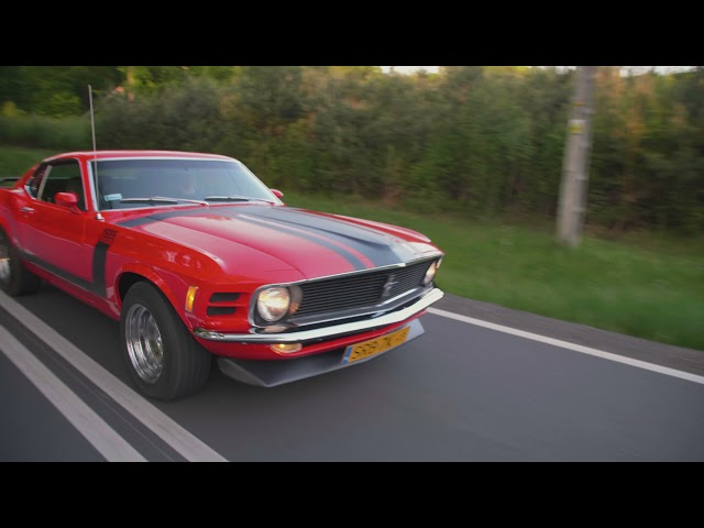 | Ford Mustang 1970 r. | BOSS 302 | V8 | Klasyk | Retro | Do ślubu | - film 1