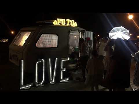 fotobudka, ciężki dym, napis love, krasnoludkizfotobudki - film 1