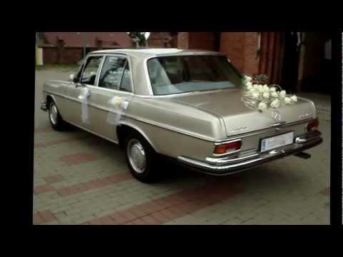 Auto do ślubu zabytkowy Mercedes - film 1